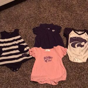 Kstate dresses and onesie